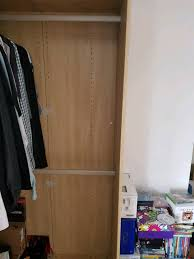 ikea pax beech pale wood effect corner wardrobe and door hinges