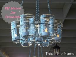 mason jar candle chandelier