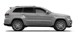 2017 Jeep Grand Cherokee Colour Options
