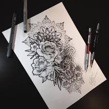 Image Result For Mandala Rose Flower Sleeve Kresby Tatuaggio