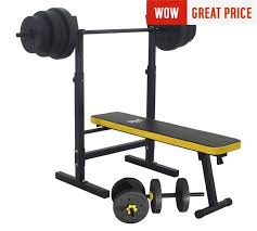 Buy Everlast Folding Bench With 50kg Weights At Argoscouk  Your Everlast Bench Press