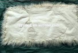 faux fur rug natural lamb goat skin blanket sheep mongolian sheepskin crystal white mainstays