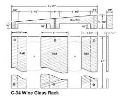 wine glass hanging rack plans