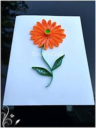 Paper Quilling Flower Frames Amazon Com Paper Quilling Daisy Flower Any Occasion Greeting Card