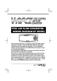 vtec air flow converterⅱ wiring diagram by model apexi usa
