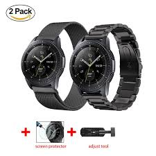 <b>2pcs Stainless Steel</b> Strap Samsung Galaxy 46mm +<b>watch</b> Glass ...