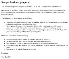 sample business proposal business proposal template