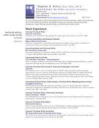 Skill Resume Technical Writer Resume Sample Free Technical Writer