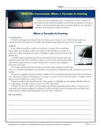 write the conclusion writing activity a tornado is coming   printable 4th and 5th grade writing activity where students practice writing conclusions for a