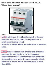 What Is Difference Between Mcb And Mccb Electrical