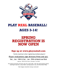 Pony Baseball League Age Chart Crescenta Sports Association
