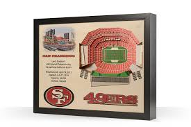 San Francisco 49ers Levis Stadium 3d Wood Stadium Replica 3d Wood Maps Bella Maps