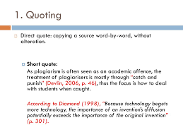 direct qoute referencing paraphrasing ppt video online download
