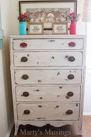 this shabby chic dresser from marty s musings began as a curbside cast off before it was