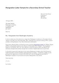 Resignation Letter Format For School Teacher Letter Format 2017