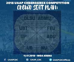 Moa Seating Chart Uaap Cheerdance Competition 2018 Is Happening On November 17