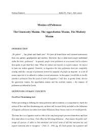generosity essay essay on importance essay on importance of  maxims of politeness essay modesty
