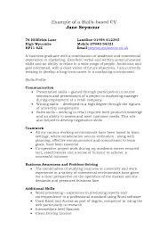 Skills Based Resume Resume Templates
