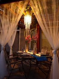 beautiful outdoor area on a 100 budget this would be such a neat idea for a husband to surprise his wife with a candle light dinner on the porch