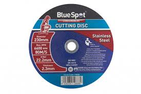 steel cutting disc. bluespot 230mm (9\ steel cutting disc