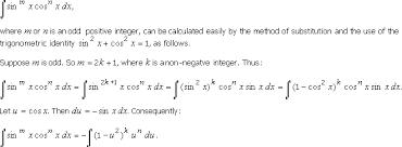10 4 Integration Of Powers Of Trigonometric Functions