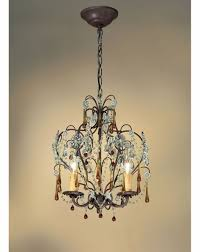 4503 dr crystorama ella mini chandelier adorned with amber colored murano crystal