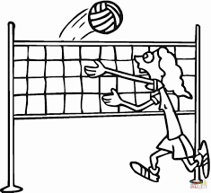 Volleyball Color Pages Volleyball Player Coloring Pages 3880
