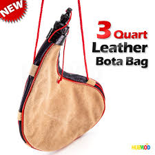 details about liberty mountain 3 quart leather bota bag with strap won t distort taste new