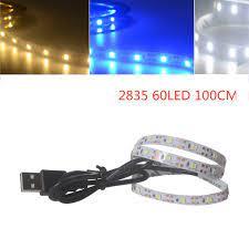 Dây đèn LED 5V 2835 60SMD / 100cm ánh sáng trắng / xanh dương