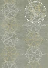 Grafisch Behang Atlas Sig 585 5 Vliesbehang Glad In Maritiem Stijl