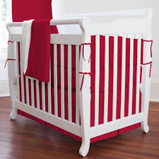solid red portable crib bedding  carousel designs