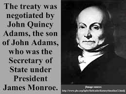 「John Quincy Adams, the secretary of state under President James Monroe.」の画像検索結果