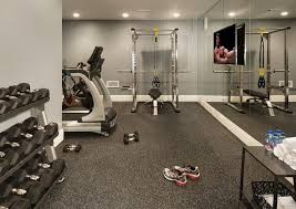 home gym lighting. cs recessed lightingbasement gym features a mirrored accent wall lined with flat panel tv facing workout equipment home lighting