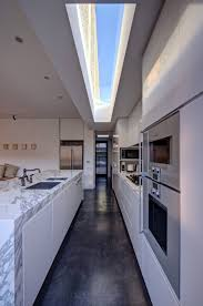 Modern Galley Kitchen Kitchen Modern Galley Kitchen Drinkware Wall Ovens The Most