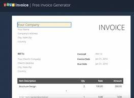 Free Free Online Invoice Generator Www Zoho Com