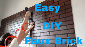 Image Composite Sinks Make Faux Brick Wall With Brick Panels Diy Interior Design Youtube Make Faux Brick Wall With Brick Panels Diy Interior Design Youtube
