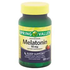 Spring Valley Fast Dissolve Melatonin Tablets 10 Mg 120 Count Walmart Com