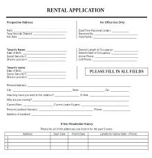 free application templates real estate rental application form template
