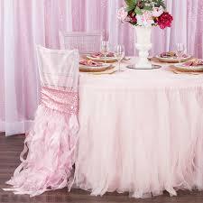 tulle tutu 14ft table skirt pastel pink
