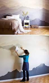 mountain mural bedroom makeover