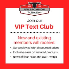 Vip Text Club Uw Provision Company