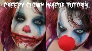 easy scary evil clown makeup tutorial