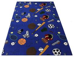 multi sports custom area rug nylon stainmaster carpet 3 colors contemporary kids rugs by koeckritz rugs