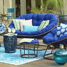 Outdoor Mocha Double Papasan Chair Frame