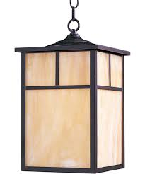 craftsman style pendant lighting. shown in burnished finish and honey glass craftsman style pendant lighting