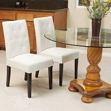 crate barrel furniture reviewslowe ivory leather. Amazon Com Great Deal Furniture Waldon Ivory Leather Dining Chairs Inside Plans 11 Crate Barrel Reviewslowe J