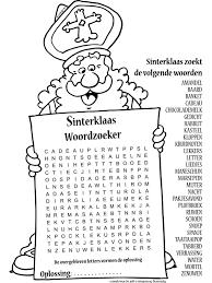 Kleurplaat Sinterklaas Woordzoeker Nr 10412 Kleurplatennl