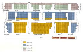 Cheyenne Civic Center Seating Chart Civic Center Information Cheyenne Symphony Orchestra