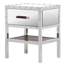 mirrored bedside table. mirrored bedside table