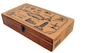 How To Make A Decorative Wooden Box Wholesale wood travel memories stamp gift stamp wooden Boxmulti 2